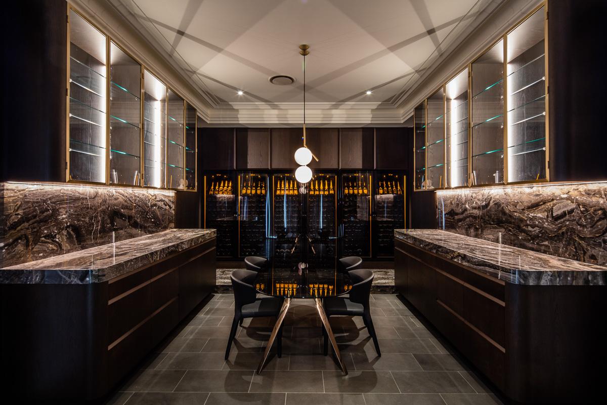 Aberfeldie Wine room